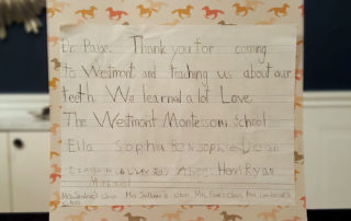 Westmont Montessori Thank You